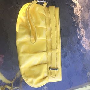 Cold water creek yellow patent leather wristlet
